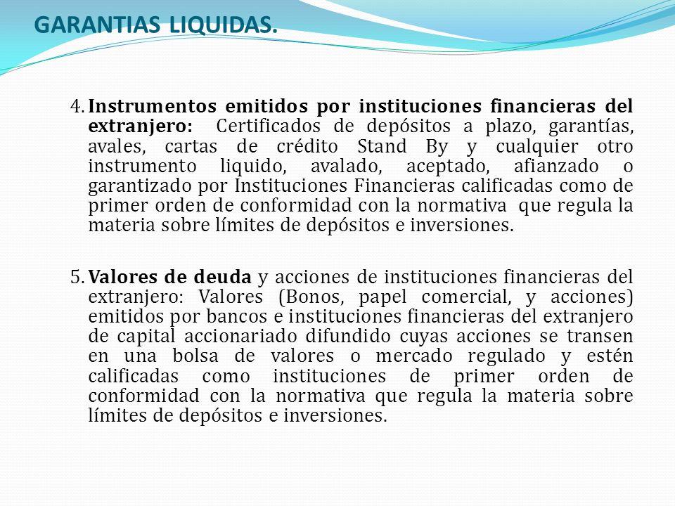 GARANTIAS LIQUIDAS.