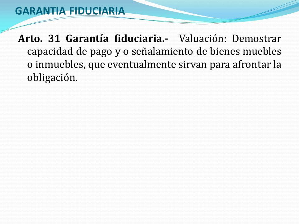 GARANTIA FIDUCIARIA
