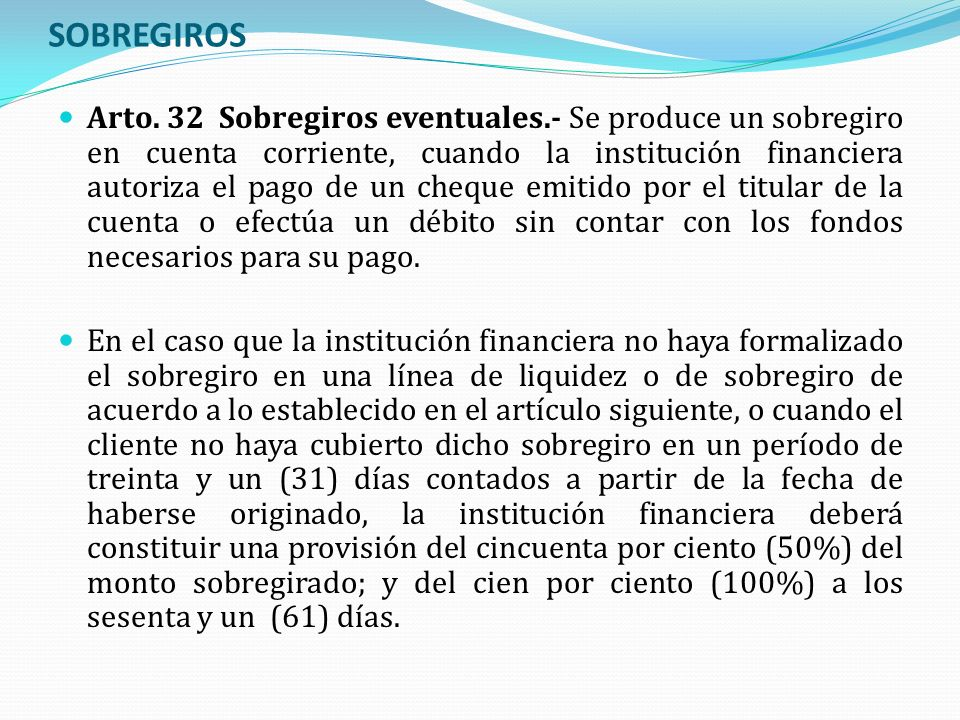 SOBREGIROS