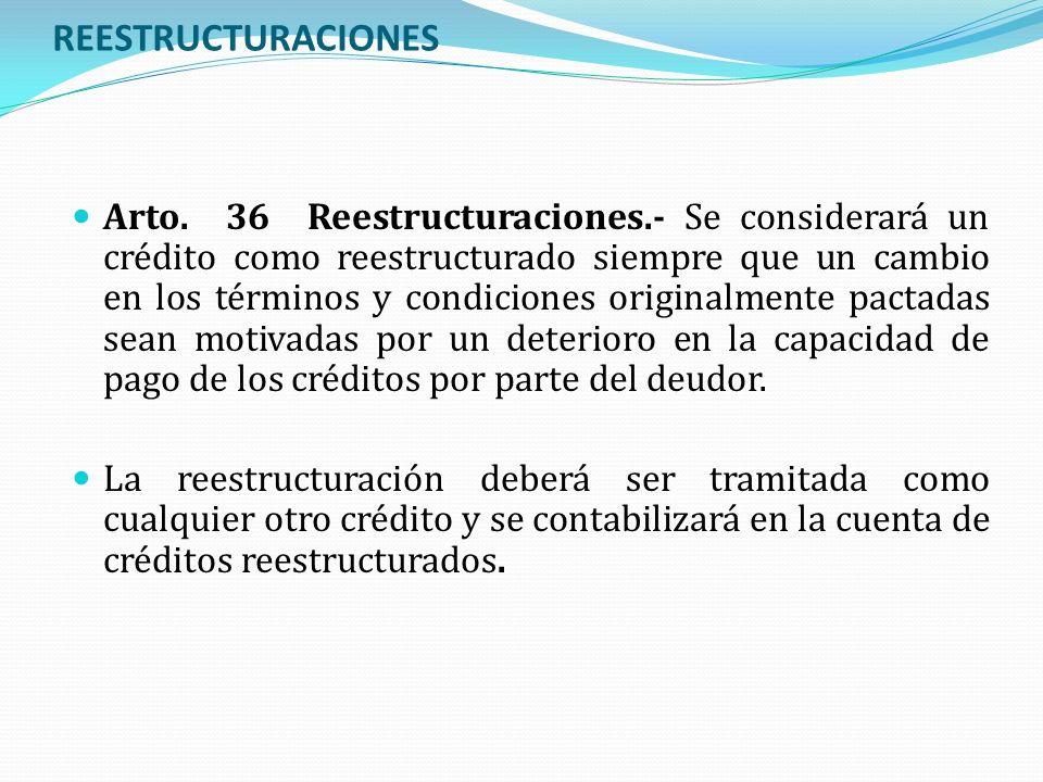 REESTRUCTURACIONES
