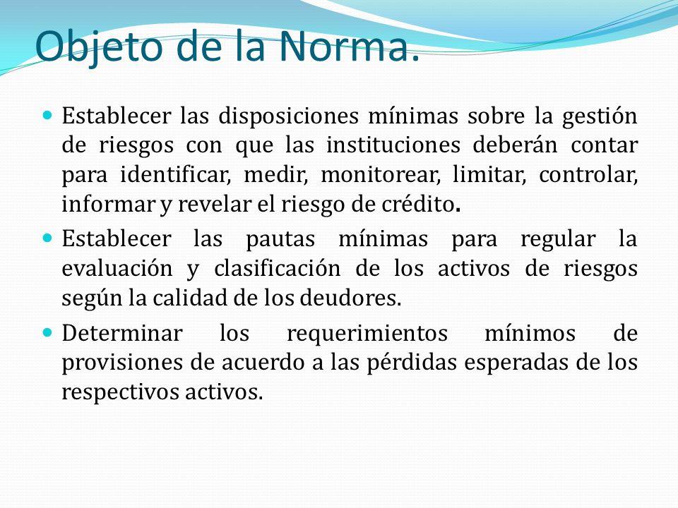 Objeto de la Norma.