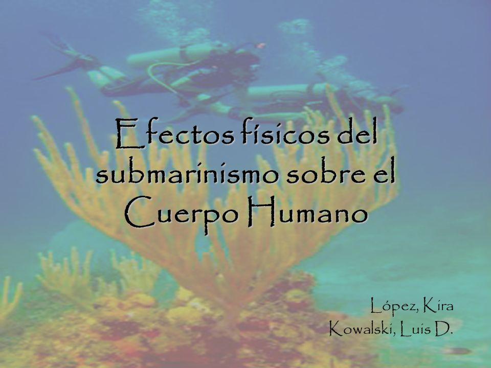 Efectos físicos del submarinismo sobre el Cuerpo Humano