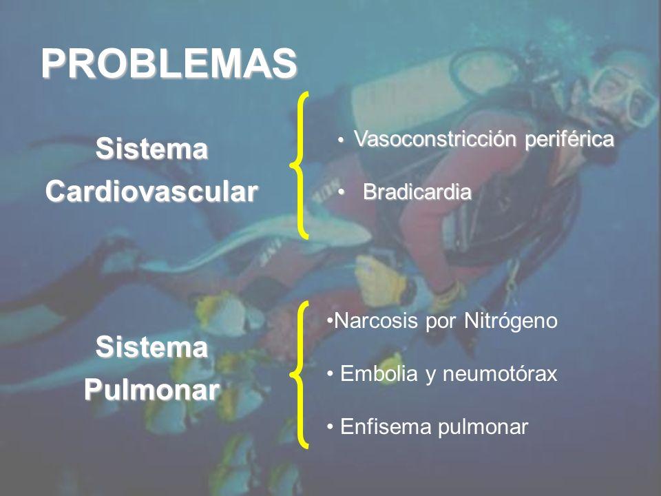 PROBLEMAS Sistema Cardiovascular Sistema Pulmonar Bradicardia