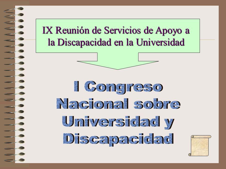 IX Reunión de Servicios de Apoyo a la Discapacidad en la Universidad