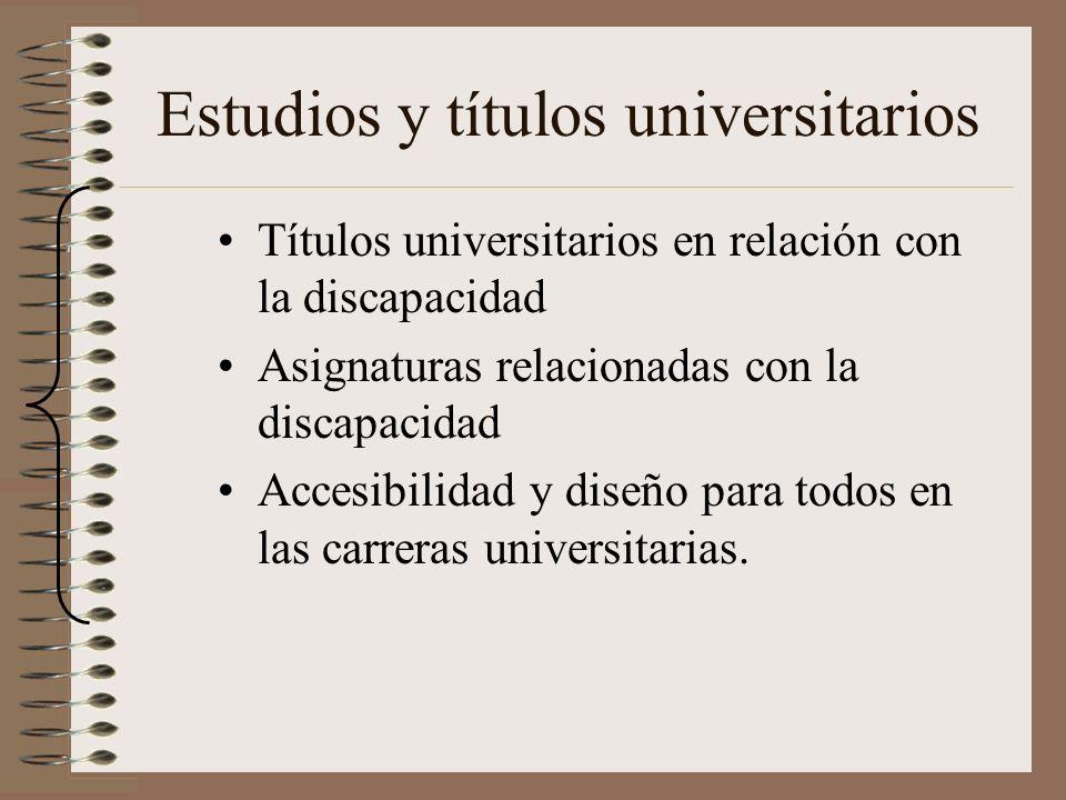 Estudios y títulos universitarios