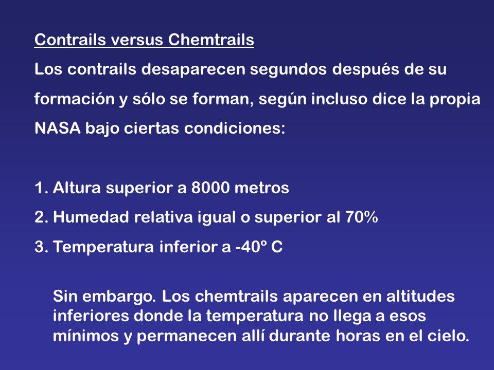 Contrails versus Chemtrails