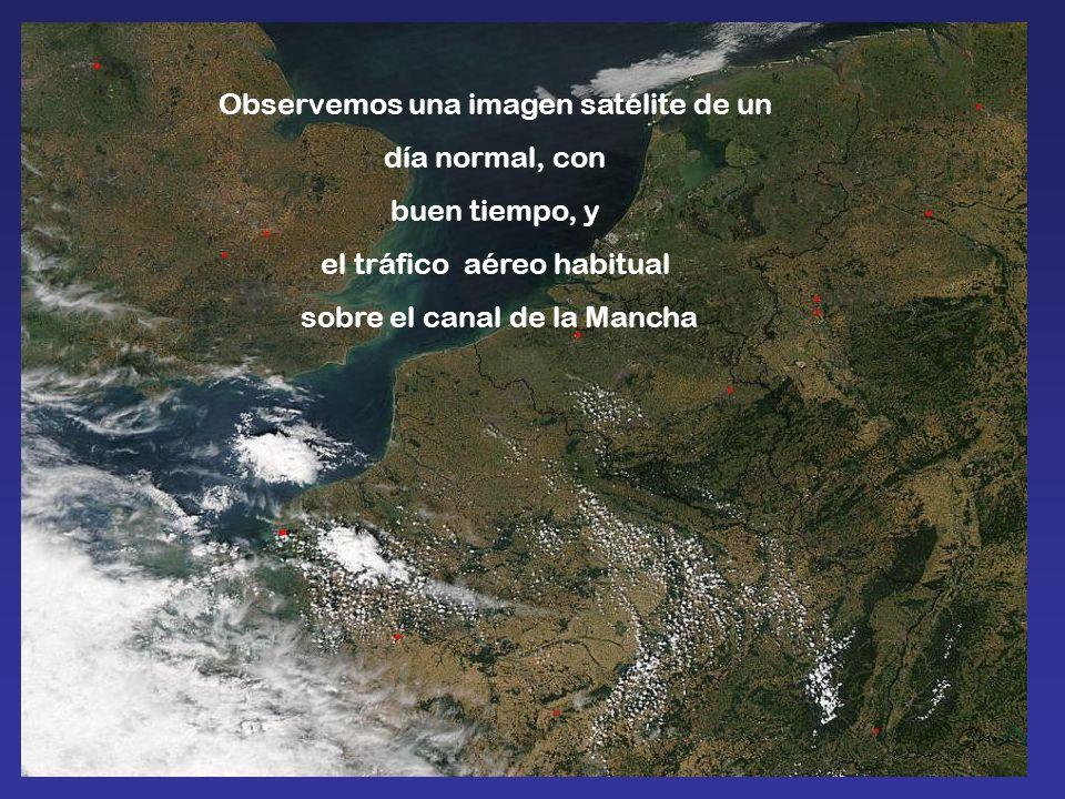 Observemos una imagen satélite de un día normal, con buen tiempo, y
