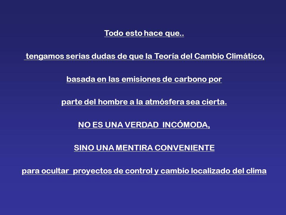 tengamos serias dudas de que la Teoría del Cambio Climático,