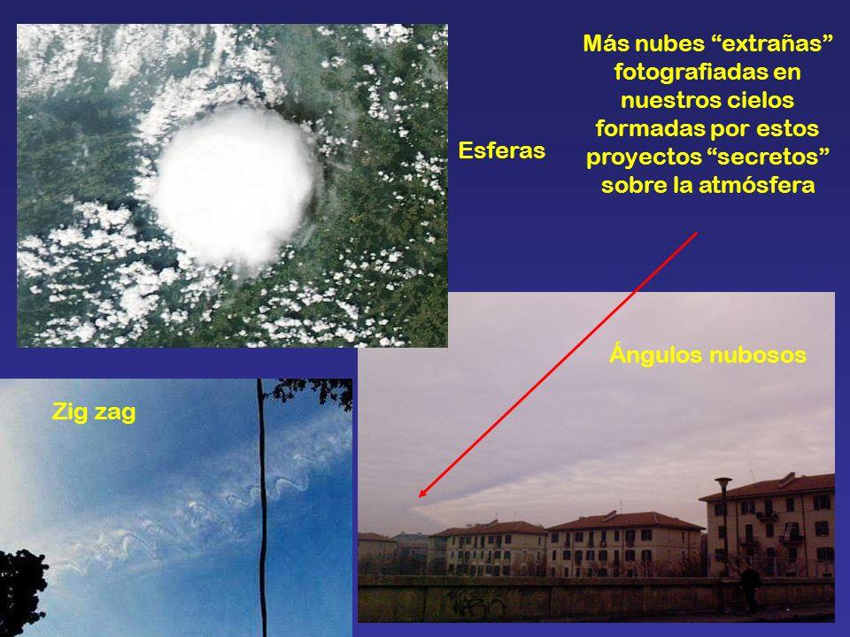 Más nubes extrañas fotografiadas en nuestros cielos formadas por estos proyectos secretos sobre la atmósfera