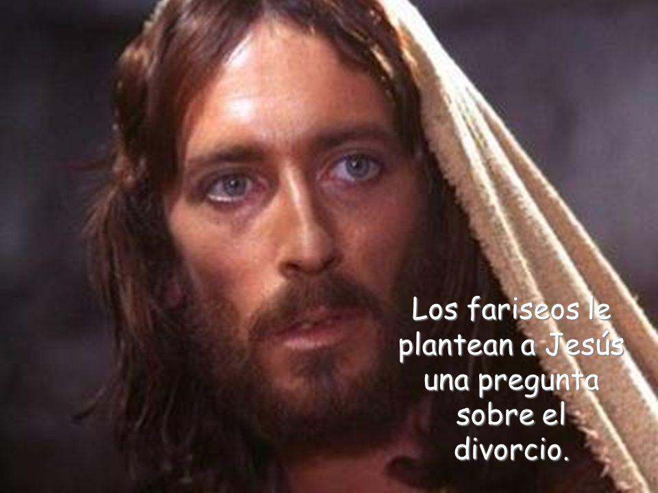 Los fariseos le plantean a Jesús una pregunta sobre el divorcio.