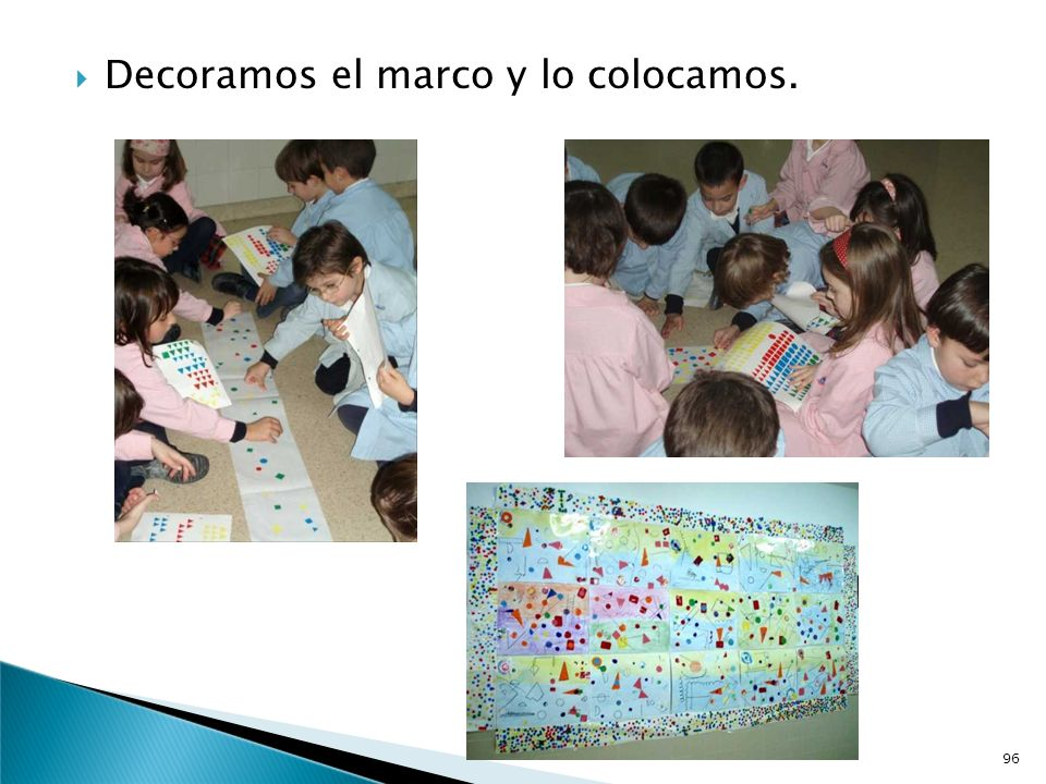 Decoramos el marco y lo colocamos.