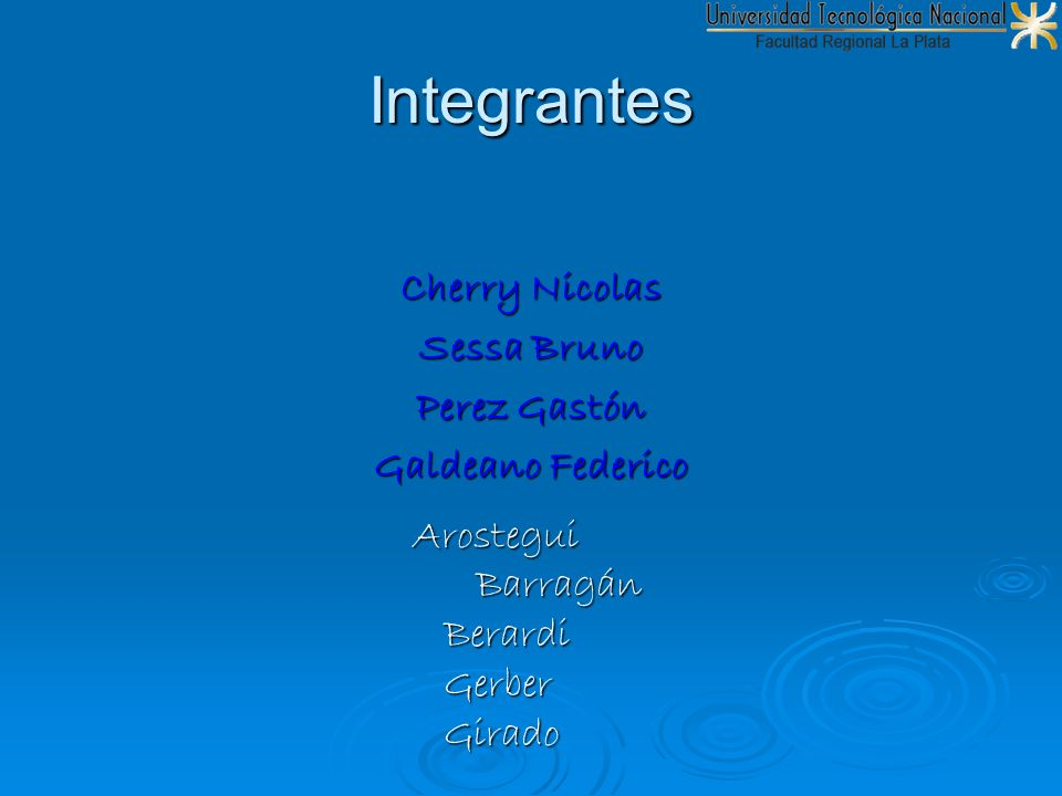Integrantes Cherry Nicolas Sessa Bruno Perez Gastón Galdeano Federico