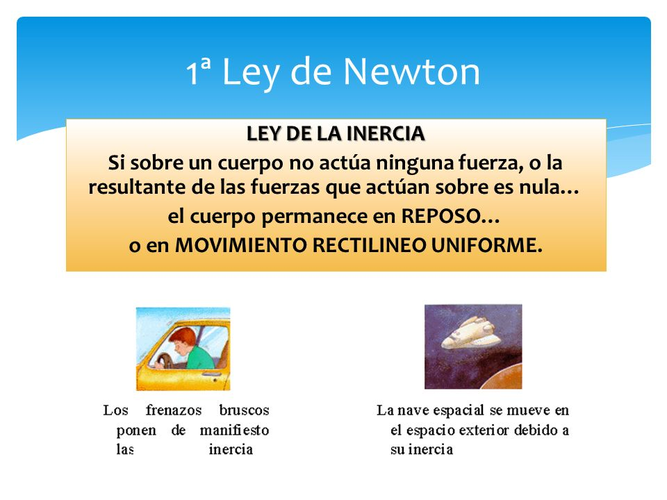 1ª Ley de Newton