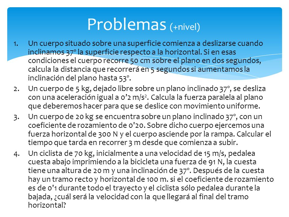 Problemas (+nivel)