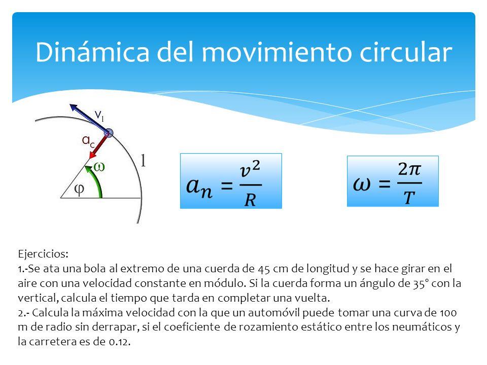 Dinámica del movimiento circular