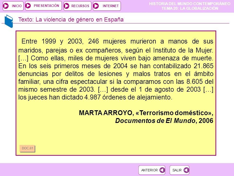 Texto: La violencia de género en España