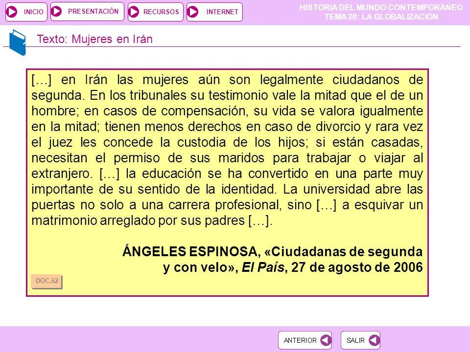 ÁNGELES ESPINOSA, «Ciudadanas de segunda