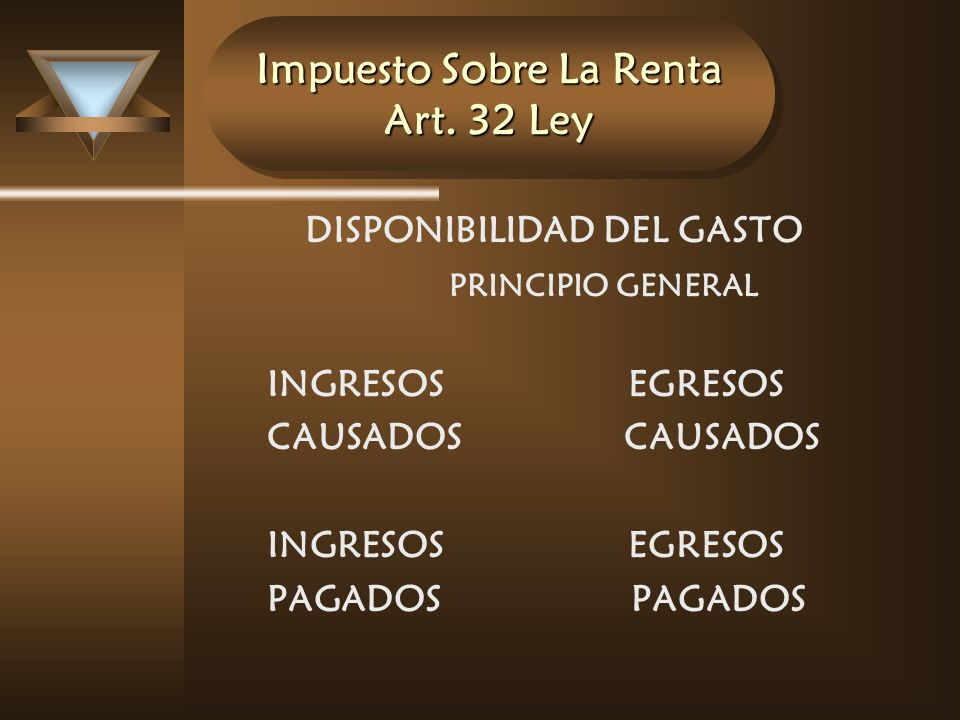 Impuesto Sobre La Renta Art. 32 Ley