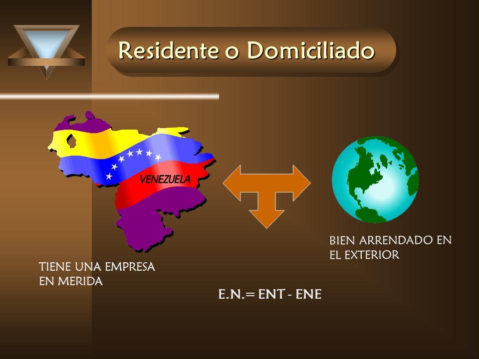 Residente o Domiciliado