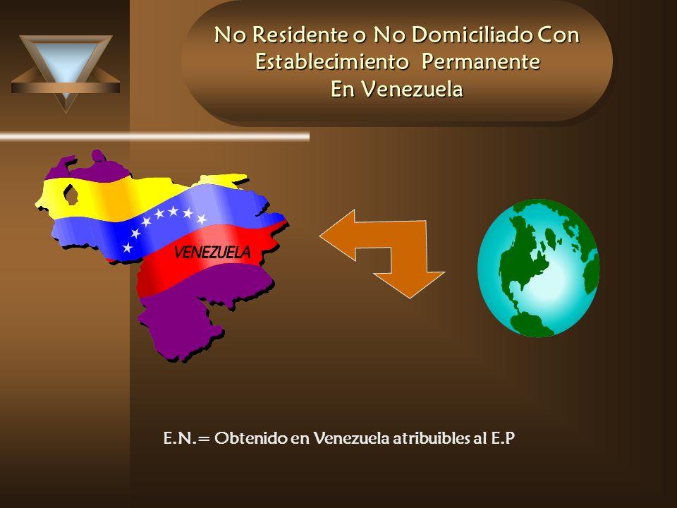 No Residente o No Domiciliado Con Establecimiento Permanente En Venezuela