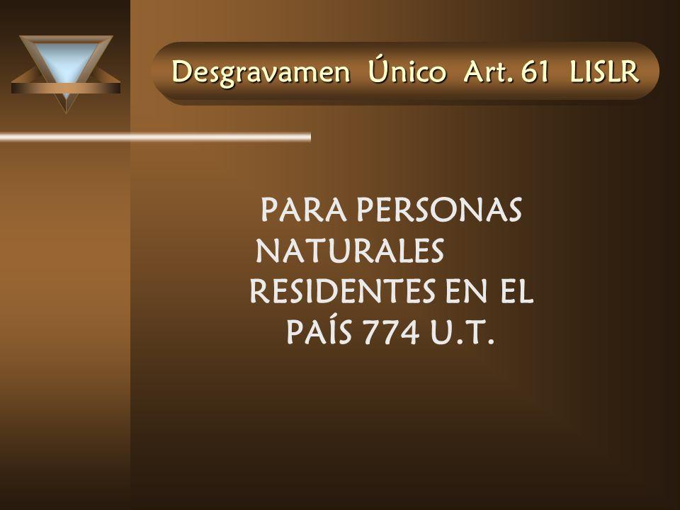 Desgravamen Único Art. 61 LISLR