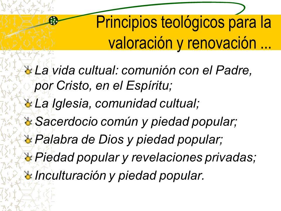 Principios teológicos para la valoración y renovación ...