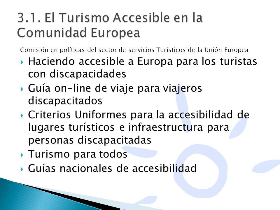 3.1. El Turismo Accesible en la Comunidad Europea