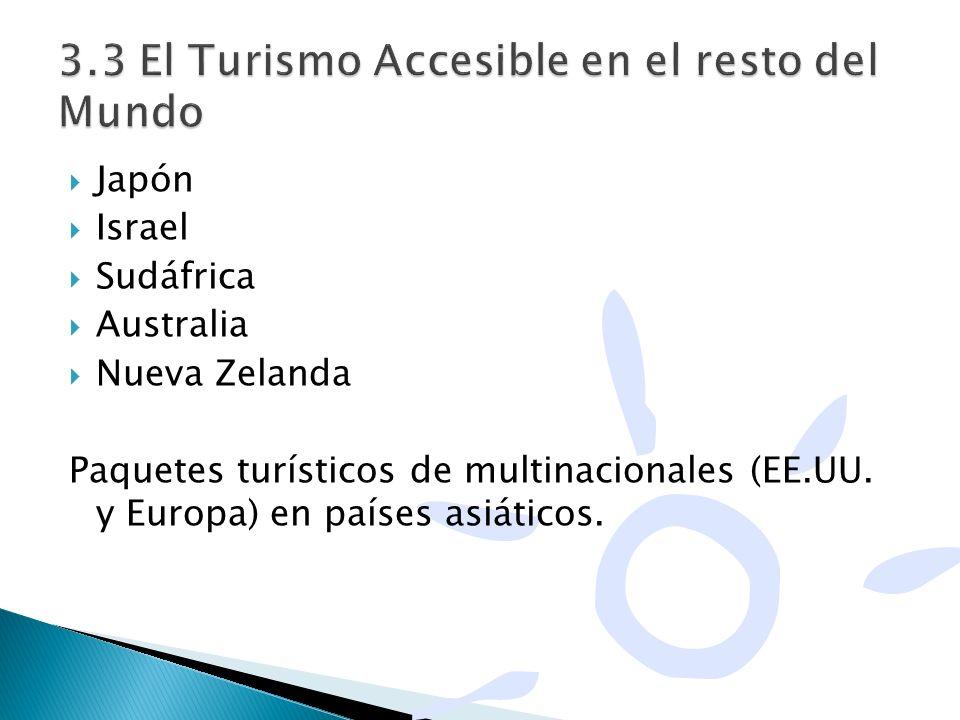 3.3 El Turismo Accesible en el resto del Mundo