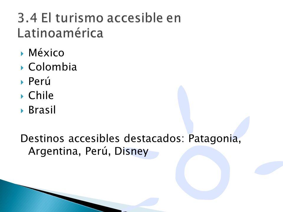 3.4 El turismo accesible en Latinoamérica