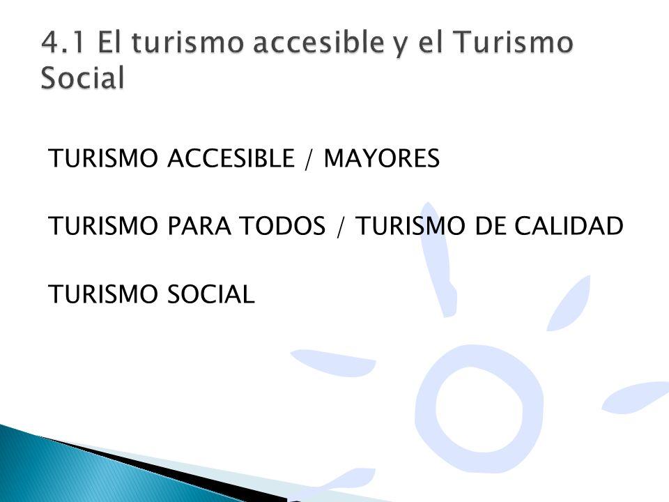 4.1 El turismo accesible y el Turismo Social