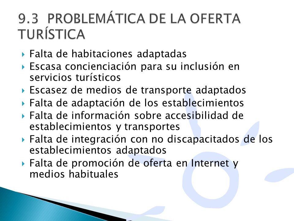 9.3 PROBLEMÁTICA DE LA OFERTA TURÍSTICA