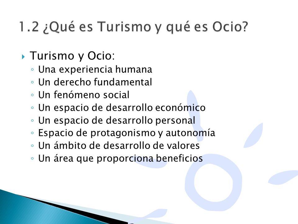 1.2 ¿Qué es Turismo y qué es Ocio