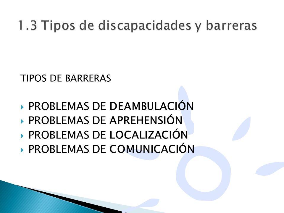 1.3 Tipos de discapacidades y barreras