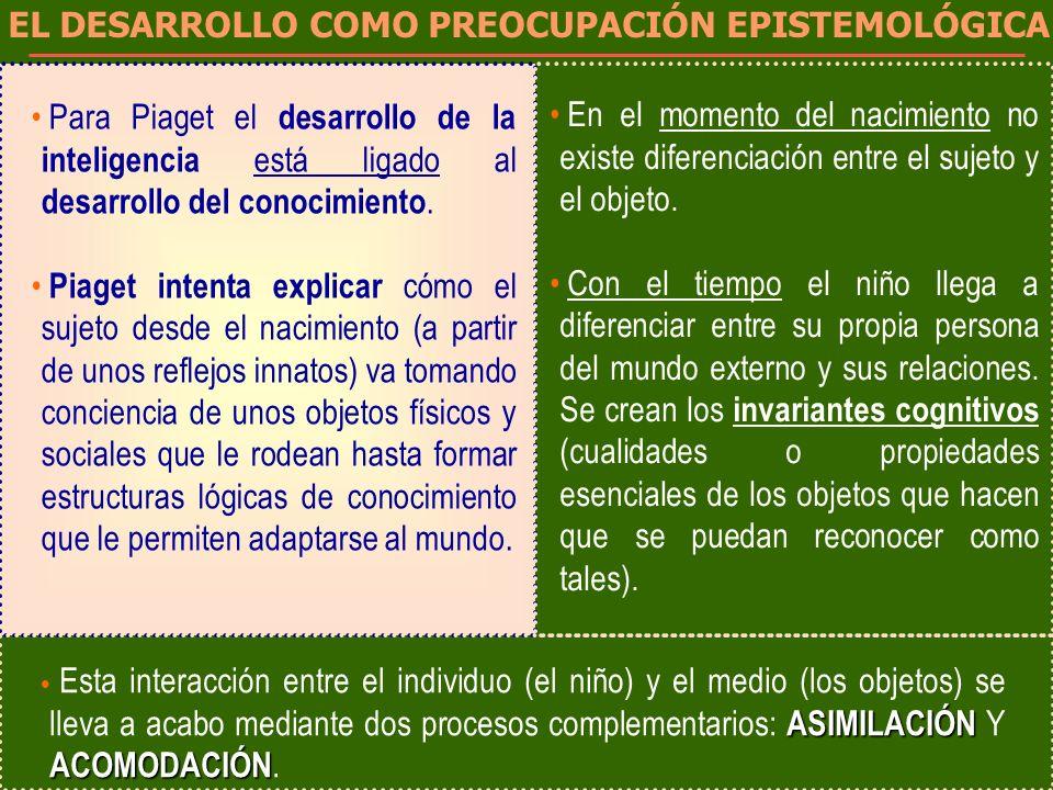 EL DESARROLLO COMO PREOCUPACIÓN EPISTEMOLÓGICA