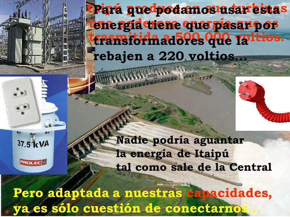 Itaipú produce en sus turbinas