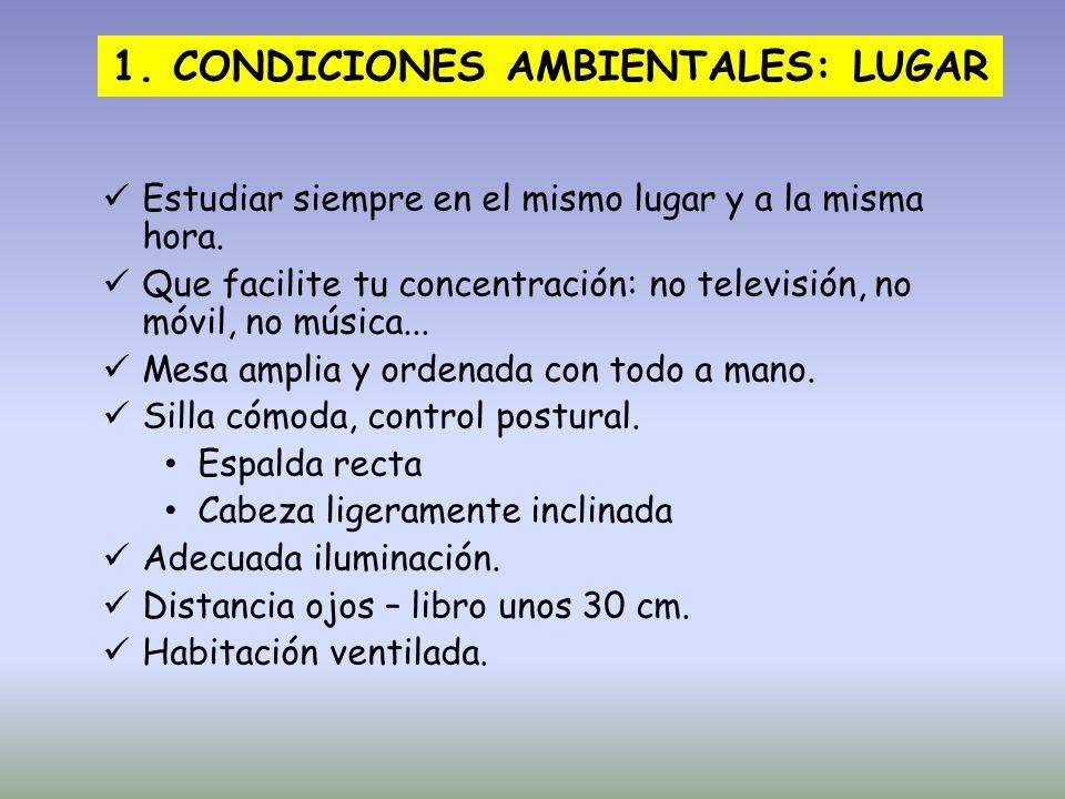 1. CONDICIONES AMBIENTALES: LUGAR