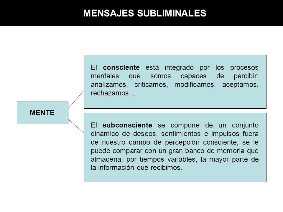 MENSAJES SUBLIMINALES