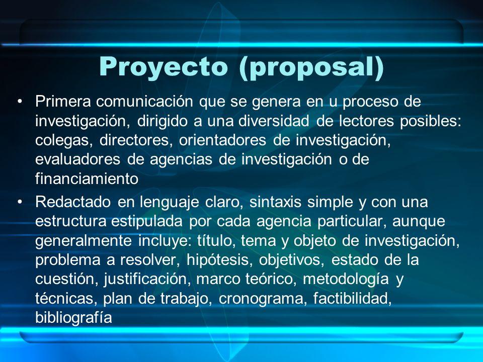 Proyecto (proposal)