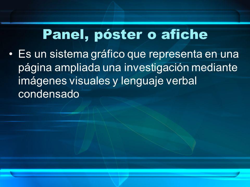 Panel, póster o afiche