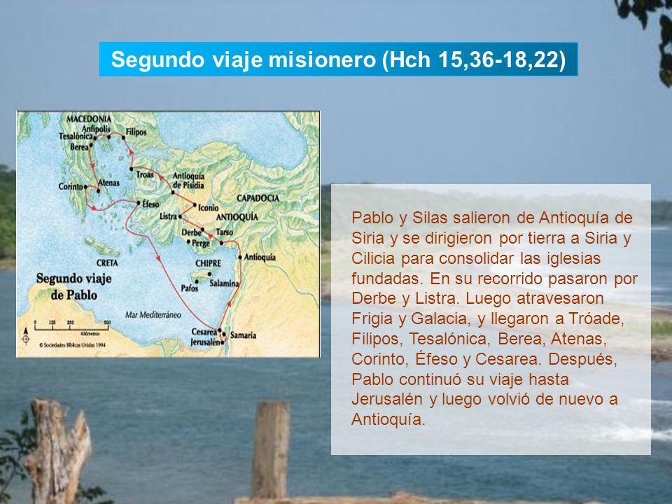 Segundo viaje misionero (Hch 15,36-18,22)