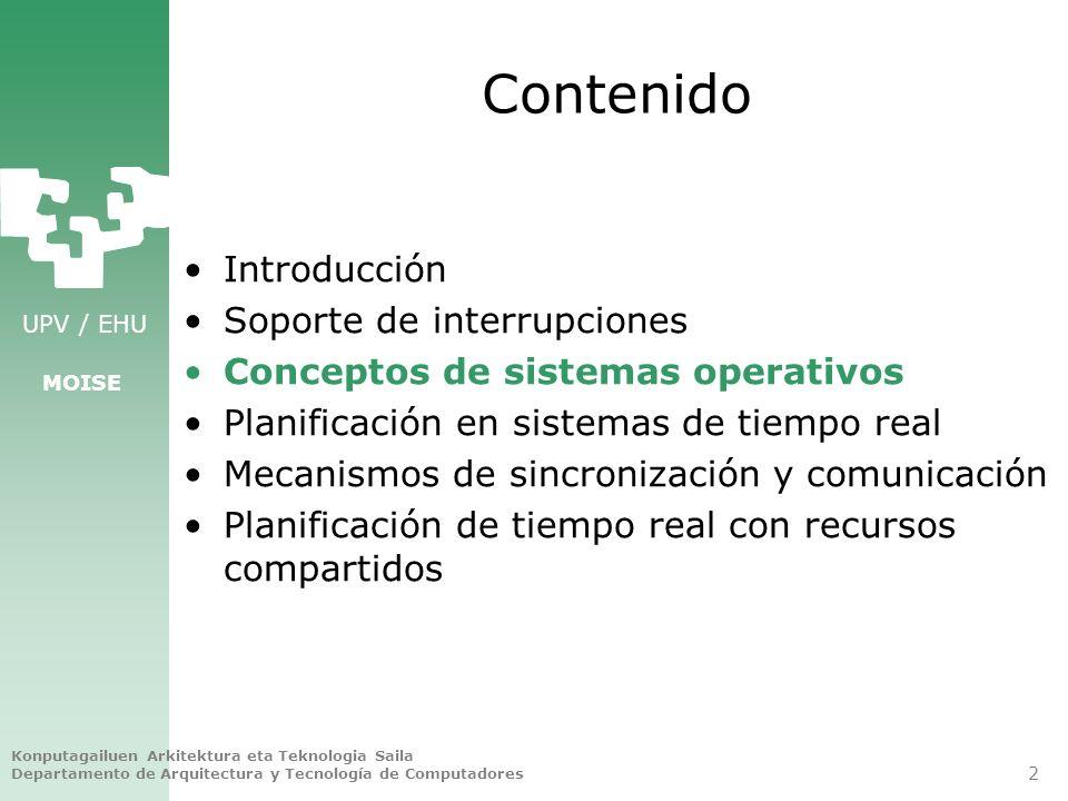 Contenido Introducción Soporte de interrupciones