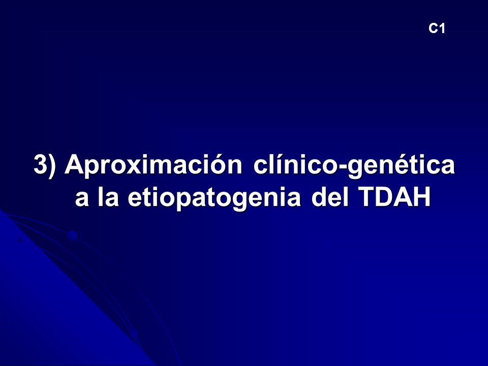 3) Aproximación clínico-genética a la etiopatogenia del TDAH