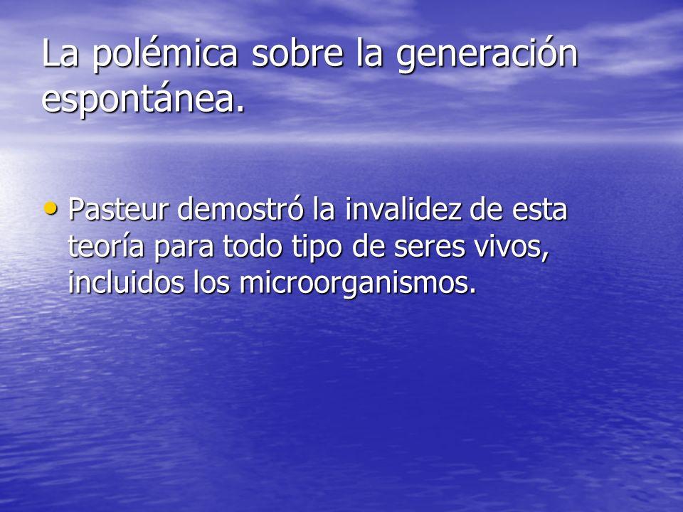 La polémica sobre la generación espontánea.