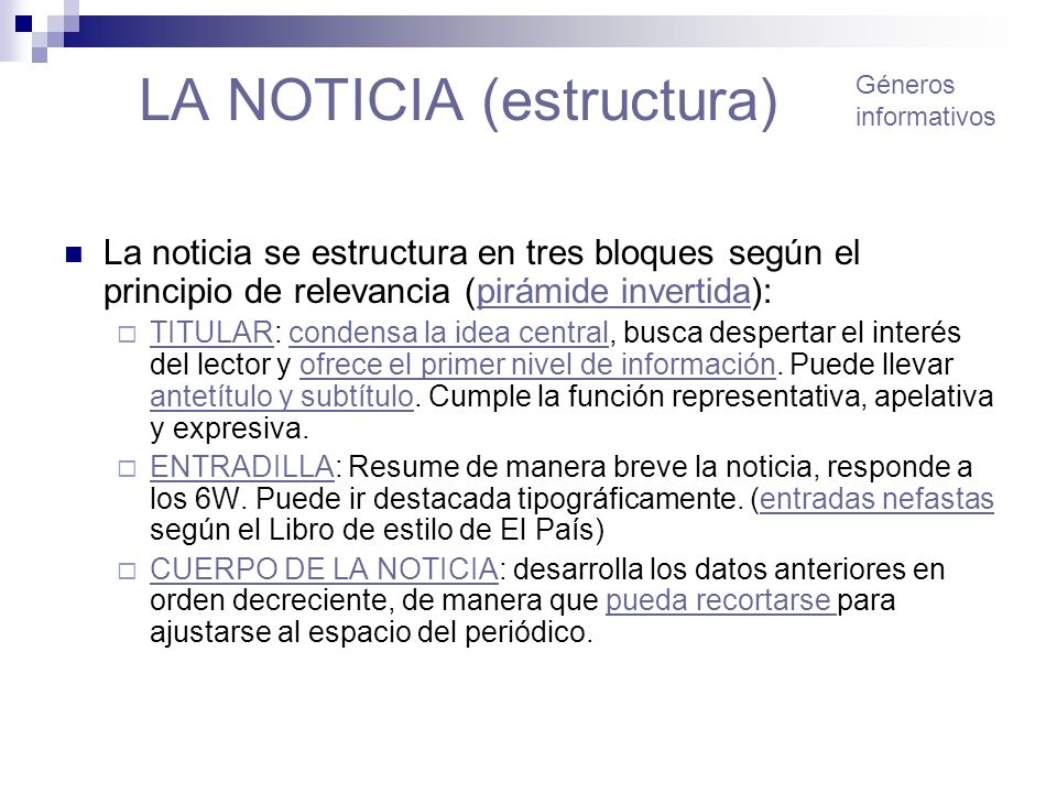 LA NOTICIA (estructura)
