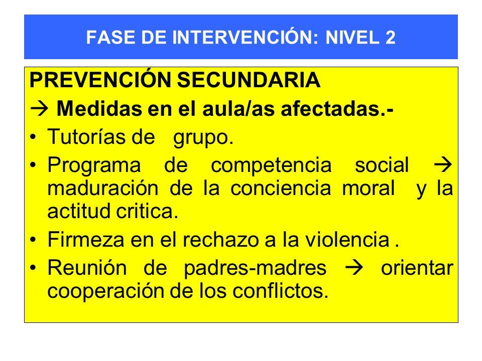 FASE DE INTERVENCIÓN: NIVEL 2