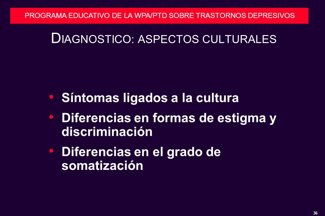 DIAGNOSTICO: ASPECTOS CULTURALES