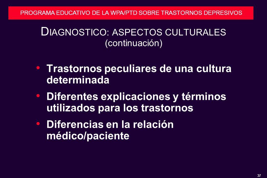 DIAGNOSTICO: ASPECTOS CULTURALES (continuación)
