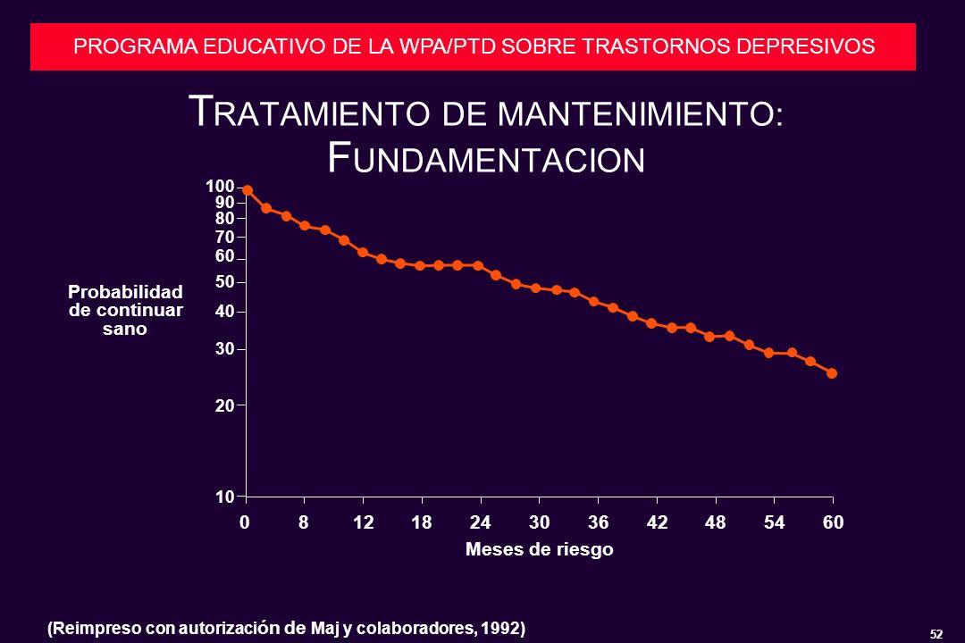TRATAMIENTO DE MANTENIMIENTO: FUNDAMENTACION