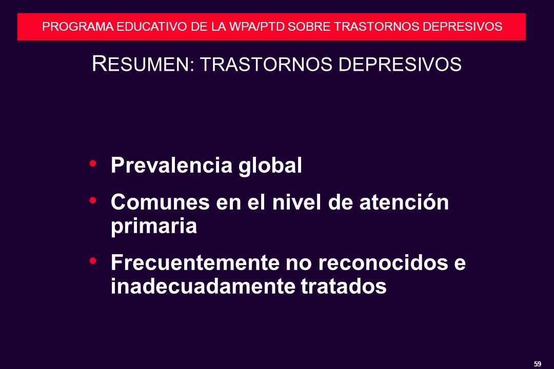 RESUMEN: TRASTORNOS DEPRESIVOS