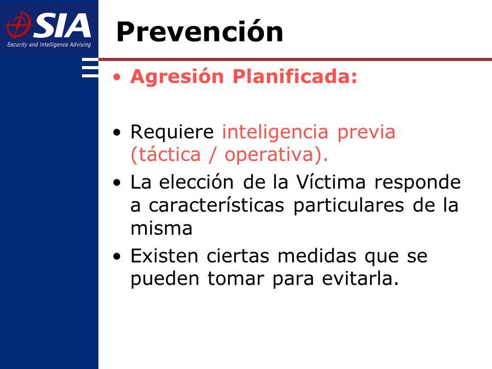 Prevención Agresión Planificada: